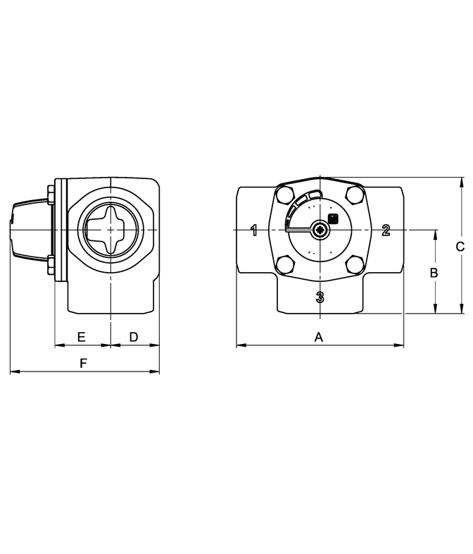 LK 845 - Female thread Measurement drawing (LKA)