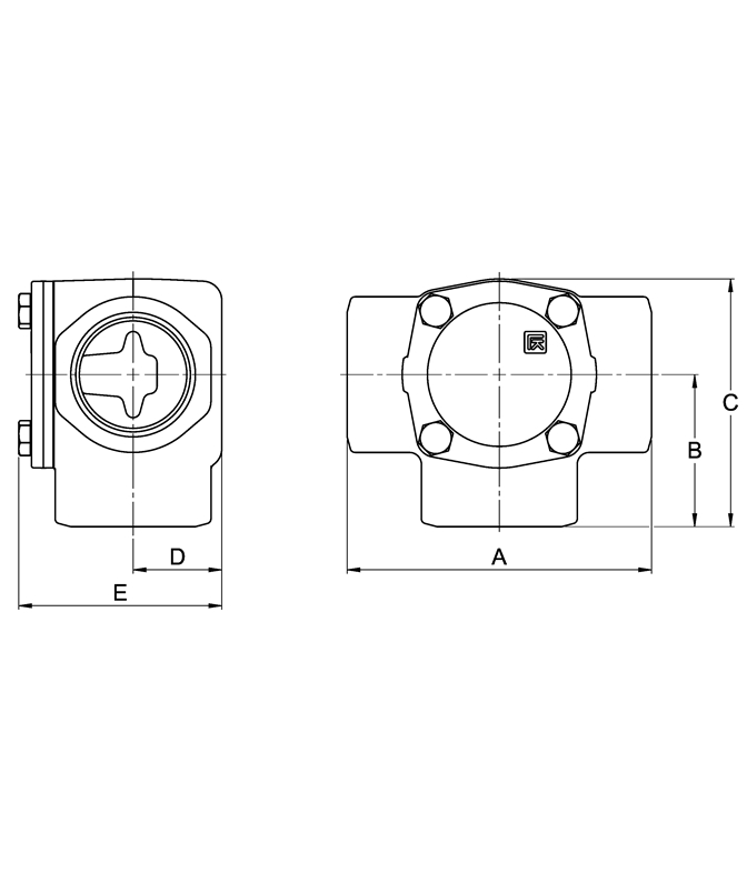 LK 825 - Female thread  Measurement drawing (LKA)