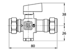 LK 538 - Compression fitting  Measurement drawing (LKA)