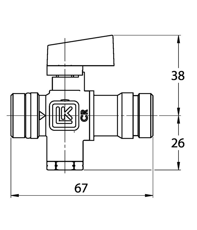 LK 538 - Male thread Measurement drawing (LKA)