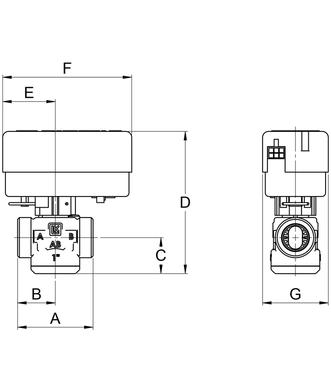 LK 525 2W - Male thread Measurement drawing (LKA)