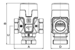 LK 551 - Female thread  Measurement drawing (LKA)