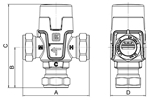 LK 551 - Compression fitting  Measurement drawing (LKA)