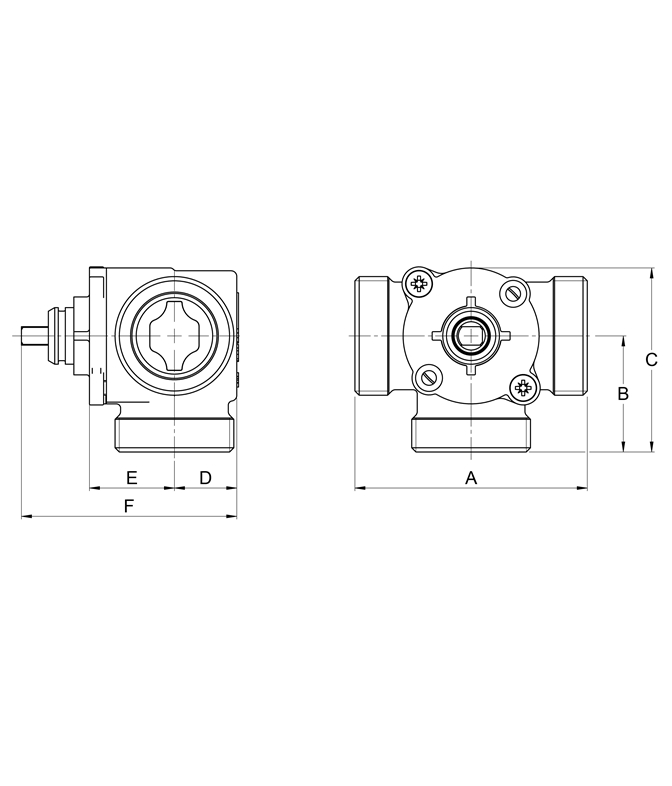 LK 840 C - Male Thread Measurement drawing (LKA)