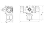 LK 840 C - Compression fitting Measurement drawing (LKA)