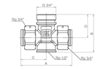 LK 931 - Male / Female / Rotating nut  Measurement drawing (LKA)