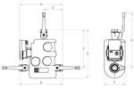 LK 810 2.0 W - Female thread Measurement drawing (LKA)