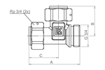 LK 937 - Male / Rotating nut Measurement drawing (LKA)