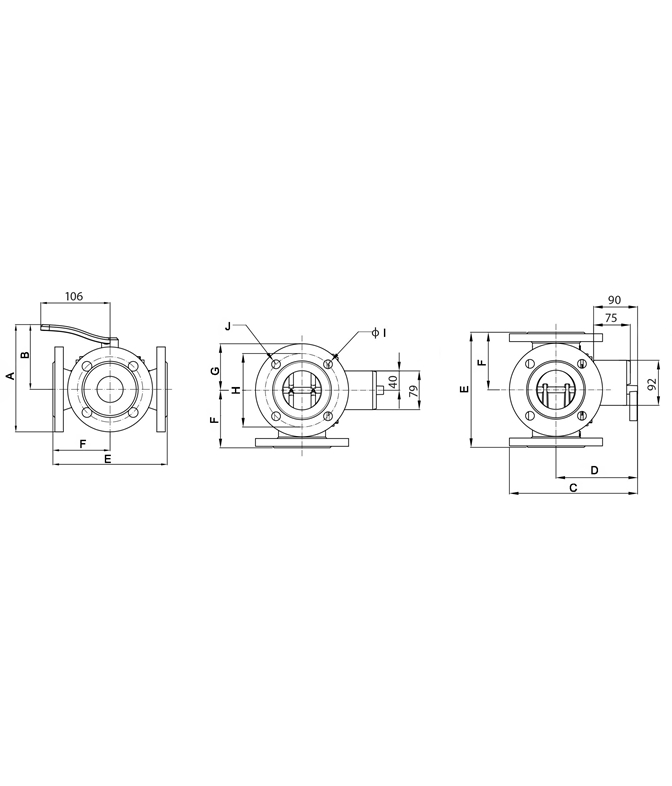 LK 843 - Flange Measurement drawing (LKA)